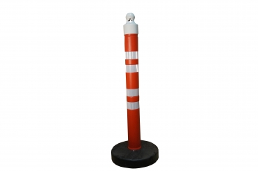 Barrier post 1200 mm, plastic base